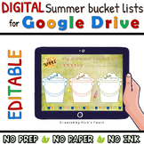 My summer BUCKET LIST for GOOGLE DRIVE - End of the year - Writing