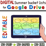 Distance learning Summer BUCKET LIST GOOGLE DRIVE™ End of the year WRITING