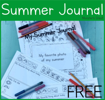 Summer Journal. Free resource. Fun and engaging