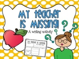My teacher is Missing!?! {Awesome sub plans}