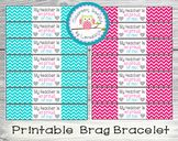 """My teacher is so proud of me!"" Brag Bracelet"
