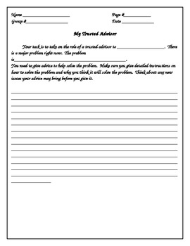 My trusted advisor worksheet
