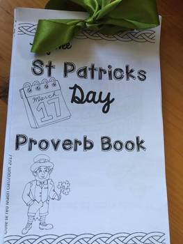 My ^wee^ St. Patrick's Day Proverb Book
