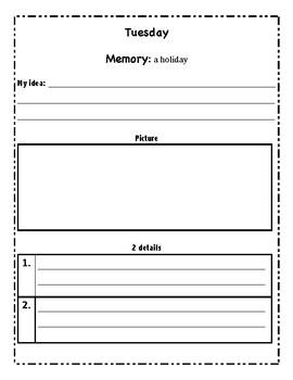 My writing idea packet