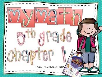 Freebie - MyMath 5th Grade Vocabulary Cards