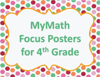 MyMath Focus Posters for 4th Grade