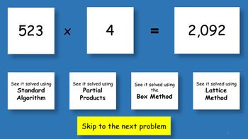 MyMathSkills 3 digit by 1 digit Multiplication #1