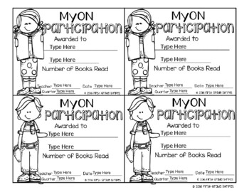 MyON Certificates and Brag/Swag Tags – Editable