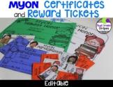 MyON Certificates and Brag/Swag Tags – Editable