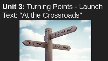 "MyPerspectives - Unit 3: Introduction ""At The CrossRoads"" Lesson"