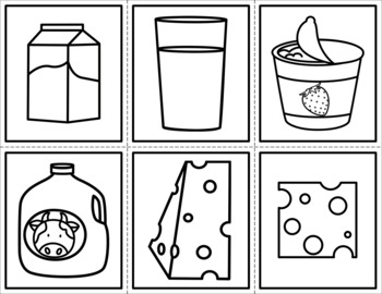 Food Groups Cut and Paste Craft - MyPlate