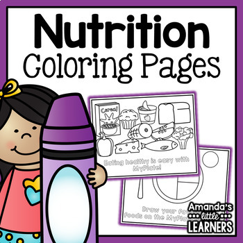 Nutrition Food Group Coloring Pages - MyPlate by Amanda\'s Little ...