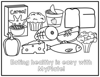 Nutrition Food Group Coloring Pages   MyPlate