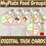 MyPlate Food Groups - DIGITAL TASK CARD GAME