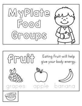 MyPlate Food Groups Mini Book
