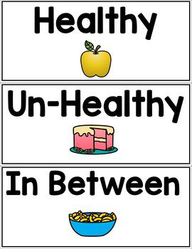 MyPlate Healthy Options Sort