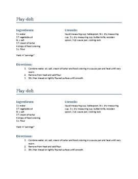 MyPlate Mascot & Play Doh Recipe