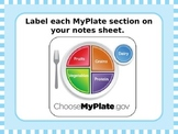 MyPlate Nutrition: Introduction Powerpoint [Corresponds to Notes Sheet]