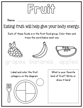 Nutrition No Prep Worksheets - MyPlate