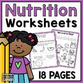MyPlate Worksheets - No Prep