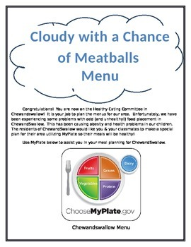 MyPlate and Cloudy with a Chance of Meatballs