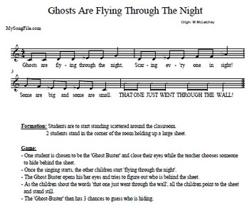 MySongFile.com Halloween Collection (Resources Supporting the Kodály Method)