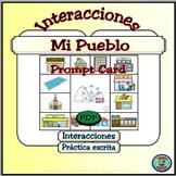 My Town Simple Question and Response Card - Mi Pueblo; Preguntas y Respuestas