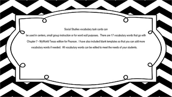 MyWorld Texas 4th Grade S.Studies Vocab. Chapter 7