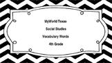 MyWorld Texas 4th Grade Social Studies Vocabulary