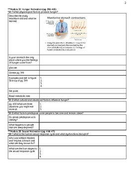 Myers 2nd ed.  Unit 8 Motivation Reading Packet