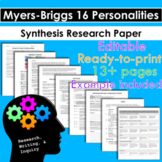 Myers-Briggs 16 Personalities Research, Writing, & Inquiry Unit