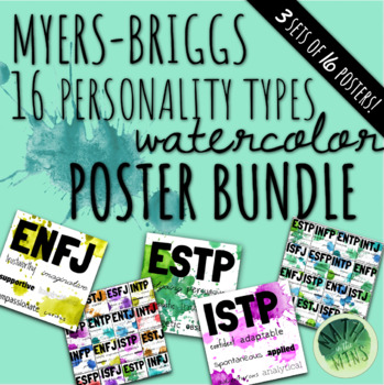 Myers-Briggs Personality Type Classroom Watercolor Posters!