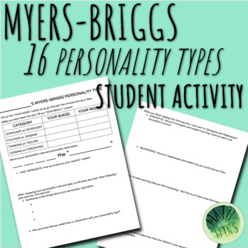 Myers-Briggs Personality Type Indicator Activity Sheet (MBTI)