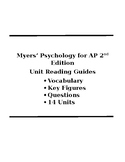 Myers' Psychology for AP 2nd Edition Unit Reading Guides