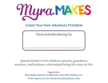 Myra Makes Create Your Own Adventure Printables