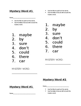 Mystery Word! Journeys 1st Grade High Frequency Lessons 17-24 Bundle!