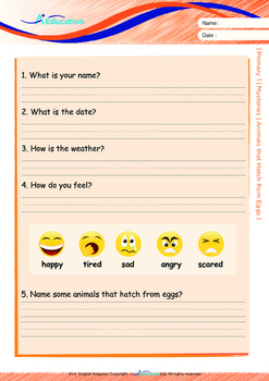Mysteries - Animals that Hatch from Eggs (II) - Grade 1 ('Triple-Track Lines')