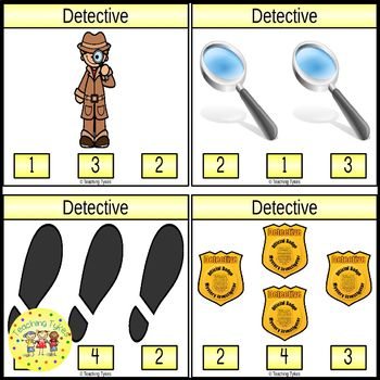 Detective Count and Clip Task Cards