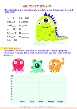Mysteries - Monsters - Grade 1 (with 'Triple-Track Writing Lines')