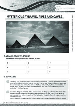 Mysteries - Mysterious Pyramid, Pipes and Caves - Grade 12
