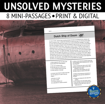 Unsolved Mysteries Worksheets & Teaching Resources | TpT