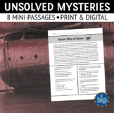 Unsolved Mysteries Reading Comprehension Passages Set 1