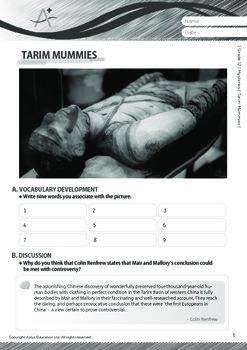 Mysteries - Tarim Mummies - Grade 12