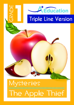 Mysteries - The Apple Thief (II) - Grade 1 (with 'Triple-Track Writing Lines')