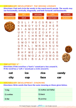 Mysteries - The Missing Cookies - Grade 1 (with 'Triple-Track Writing Lines')
