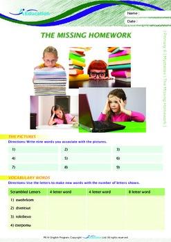 Mysteries - The Missing Homework - Grade 6
