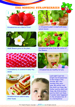 Mysteries - The Missing Strawberries - Grade 1 ('Triple-Track Writing Lines')