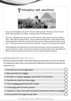Mysteries - The Pyramids Are Amazing - Grade 3