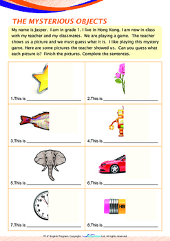 Mysteries - The Mystery Objects (II) - Grade 1 ('Triple-Track Writing Lines')