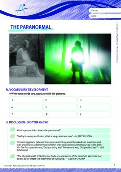 Mysteries - The Paranormal - Grade 12